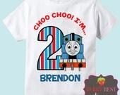 Thomas the Train Personalized Birthday Shirt