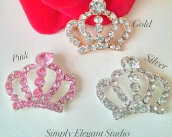 5 Metal Rhinestone Crowns, 30mm*25mm Shinny Crowns, Headband Crowns, Craft Supply, Bridal Supply