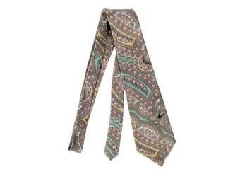 Vintage 80s Tie - Liberty of London - Liberty of London Tie - Silk Tie - Silk Paisley Tie - Pink Green Blue - Liberty Paisley Necktie