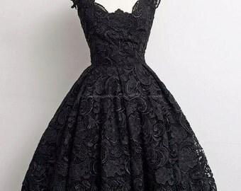 Black swan lace Dress - Wedding dress / Formal dress / Prom dress/ Bridal dress