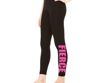 Workout Leggings, Fierce, black