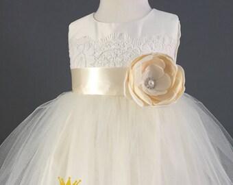 Ivory flower girl dress | Etsy