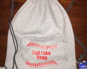 Personalized Baseball or Softball Drawstring Bag