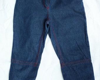 Capris denim vintage, embroidered, CASTELBAJAC - size 36 (Size S)
