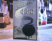 Advanced potions book with 10 designed pages from Harry Potter