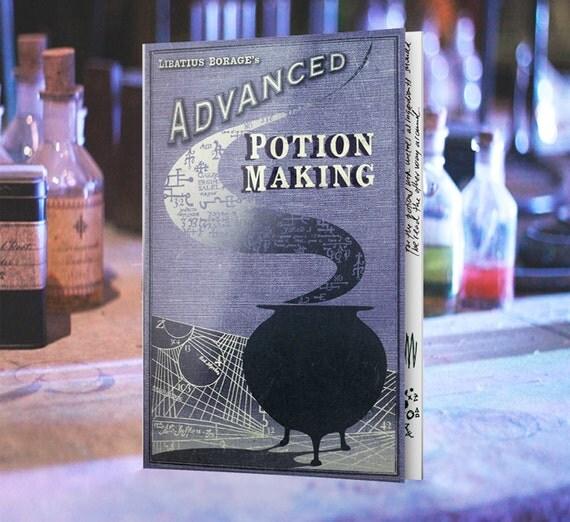 Cahier de potions avancées avec 10 pages recréés + autocollants