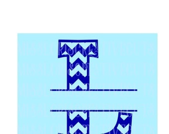 Split letter CHEVRON  Letter monogram  L  SVG Cut file  Cricut explore filescrapbook vinyl decal wood sign t shirt cricut cameo