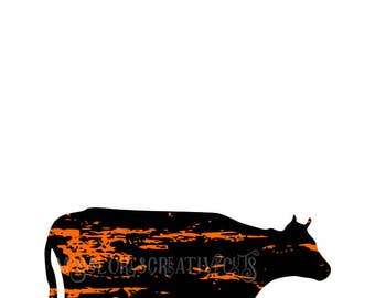 COW distressed  SVG   cut file  t-shirts  animalsscrapbook vinyl decal wood sign cricut cameo Commercial use