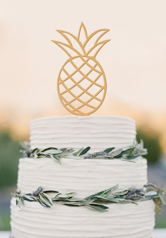 pineapple wedding cake pineapple cake topper wedding cake topper by balmaindesign 18525