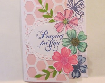 Praying for You Flower card