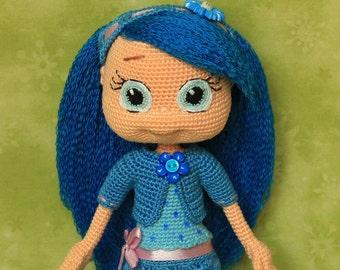 Blueberry Muffin - Handmade crochet doll