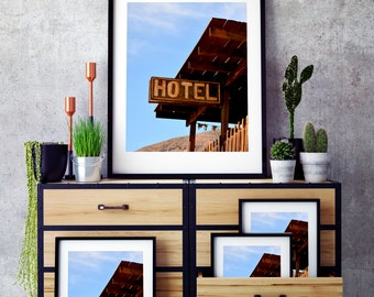 Wild West, Rusted Western Hotel Sign, Printable Download