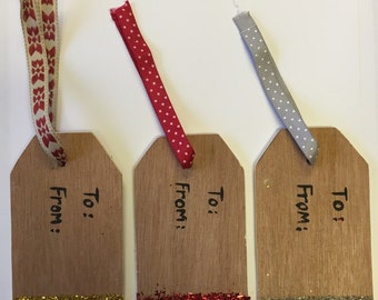 Wooden Gift Tags - Set of 3