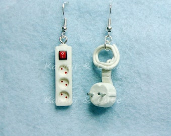 Earrings Plug and Lead - Electricity