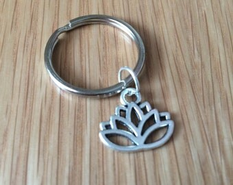 Lotus Charm Keyring | Keychain | Zen | Gift For Her | Boho | Spiritual | Accessories