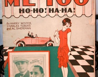 1926 Me Too Ho-Ho! HaHa! by Woods, Tobias, Sherman//Published by Shapiro, Bernstein & Co.