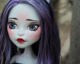 SOLD (Display only) OOAK Monster High Doll Repaint Catrine DeMew