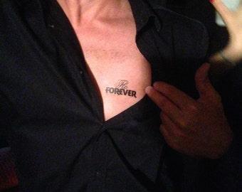 "10 custom ephemeral tattoos ""first name + FOREVER"" (birthday, evjf, tattoo, temporary, customizable)"