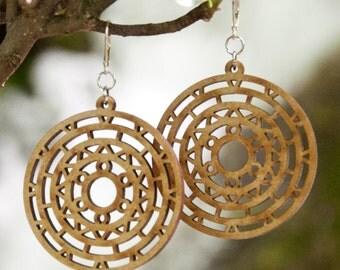 Earrings wooden WOODEARZ MAIA