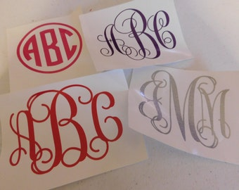 Monogram Stickers