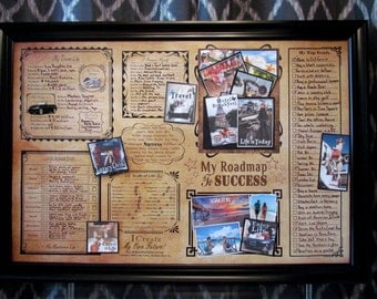 24x36 Poster, Vision Board . Bucket List - Visual Tool to Achieve Goals - Make 2017 the best year yet! Achieve your dream Life
