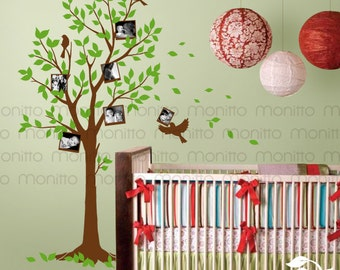 Photo Tree Decal- Living Room Decal ,Modern Home Wall Sticker, Bedroom Wall Decal, Nursery Decal, Kids Wall Decal, Stickers, Decor [MT028]