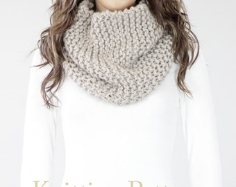Knit Cowl PATTERN - Seattle Cowl Pattern #14 - Knit Scarf Pattern - Knitting PATTERN - Two Sizes - Digital Download - Not a Physical Scarf!