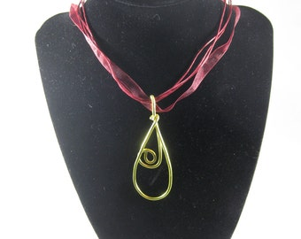 Spiral Tear Drop Necklace