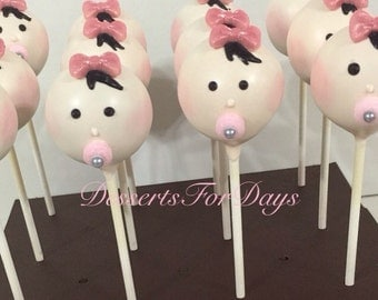 1 Dz. Baby Girl Cake Pops. Baby Shower. Gender Reveal. Baby Girl. Baby Boy Cake Pops. Dessert table. Mother to be Gift.