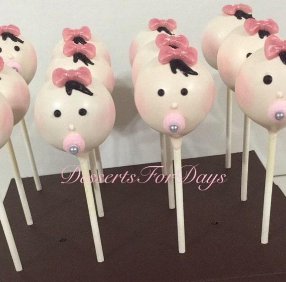 1 Dz. Baby Girl Cake Pops. Baby Shower. By DessertsForDaysNJ