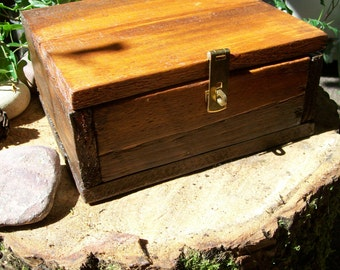 Handmade Wooden Trinket Box - Recycled Wood, Stuffed and Lined, Made with Love.
