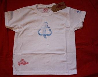 Children T-Shirt, maritime motifs, size 104