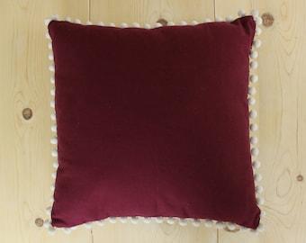 Plum Pom Pom Pillowcase