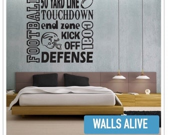 50 yard line Touchdown Football Wall Decal