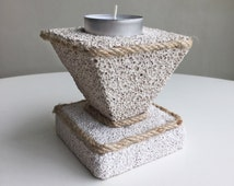 Natural Home Decor / Decorative Natural Pumice Stone / Candle Holder/ Geometric Candle Holder/ Natural Gift/ Tea Light Holder