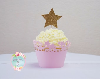 Star cupcake topper || cupcake toppers || twinkle twinkle little star cupcake toppers