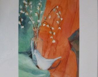 White Dove with Vase