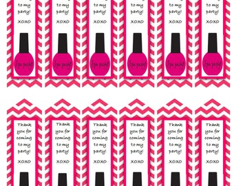 Spa Party theme nail polish CUPCAKE TOPPER for kids birthday