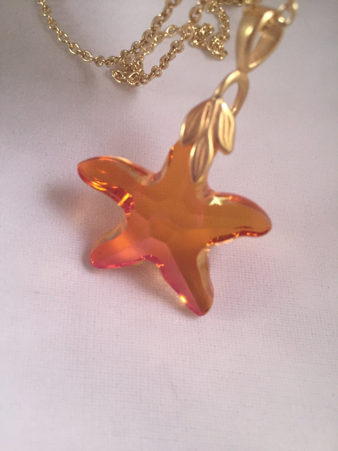 swarovski pink starfish necklace stunning necklace