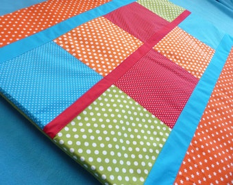 Play dress/playpen rug Cheerful colours (new, fabric, handmade)