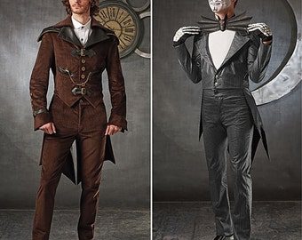 Sewing Pattern for Mens Steampunk Costume & Jack Skellington Costume,Simplicity Pattern 1039, Halloween Costume, Cosplay, Day of the Dead