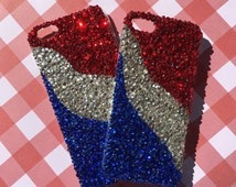 The All American Custom Crystal Bling Phone Case for iPhone, Galaxy, Note, HTC, Nexus, LG, Samsung, Android Phones