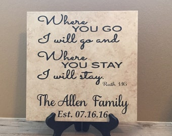 Personalized Wedding Gift, Gift for Couple, Gift for Bride, Wedding Gift, Religious Gift, Marriage Sign, Military Wedding, Gift for Bride