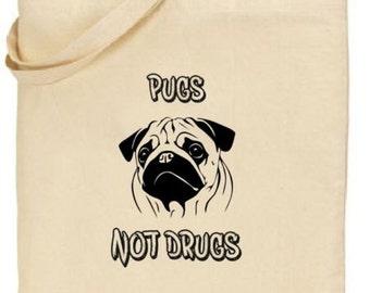 Tote Bag - Pugs Not Drugs