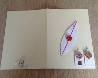 White surf board card