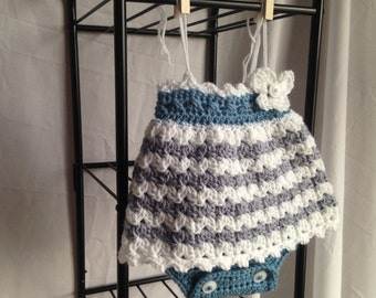Crochet baby dress pattern, crochet romper pattern, crochet baby clothes pdf, crochet skirt pattern, baby romper crochet pdf
