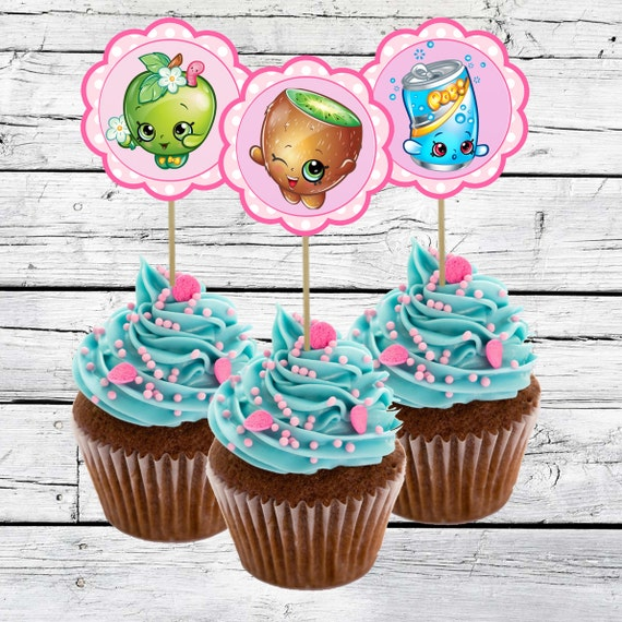 Shopkins cupcake toppers shopkins birthday party 2 5 quot printable