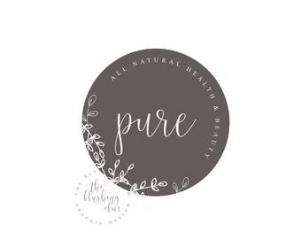 Natural Logo, Circle Logo, Pretty Logo, Watermark, Premade Logo, Graphic Design, Business Logo, Logo Design, Photography Logo
