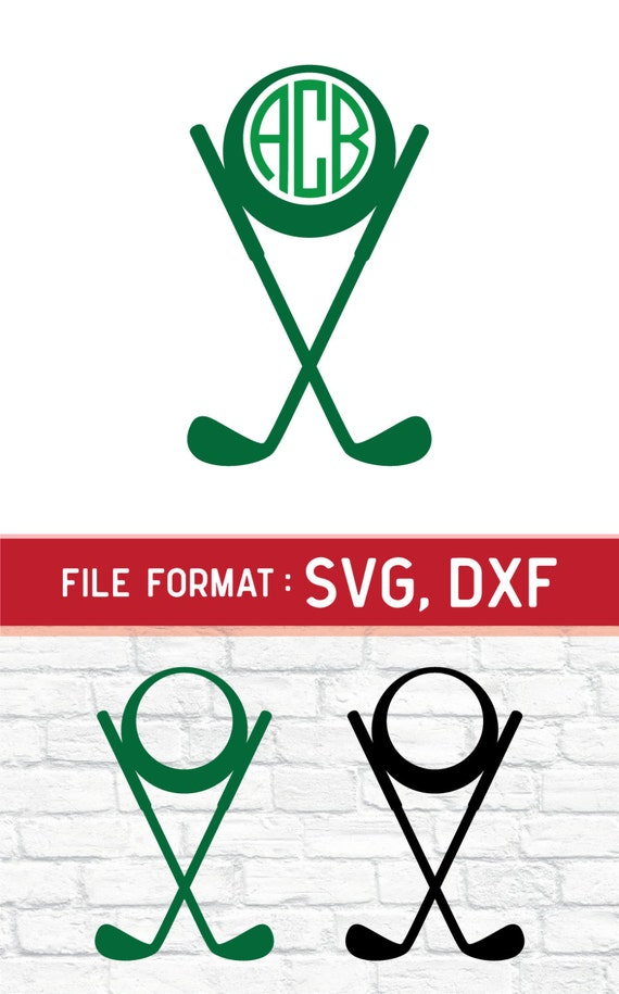 Download SVG Golf Monogram Cricut Files Vinyl Cutters SVG by ...