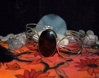 Black Onyx Large Cuff Bracelet